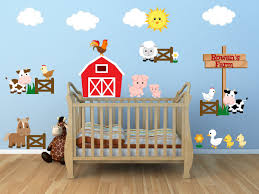 Nursery Name Wall Decals by Kids Room Wall Decals Farm Wall Decals Farm Animal Decals