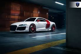 audi r8 headlights audi r8 with a wide body kit and red rohana custom wheels u2014 carid