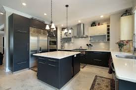 black cabinets granite counter tops the most impressive home design