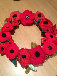 How To Make Wreaths How To Make A Knitted Or Crochet Poppy Wreath