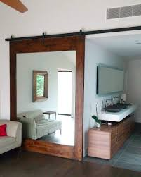 Painted Barn Doors by This Customer U0027s Mirror Door Looks Great And Also Functions Well In