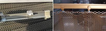 Fireplace Chain Screens - metal coil curtain high strength and fire prevention