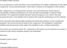 download college recommendation letter for free formtemplate