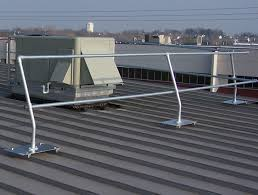 Temporary Handrail Systems Standing Seam Metal Roof Safety Railing Systems Bluewater
