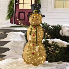 snowman curtains kitchen lighted burlap snowman christmas tree shops andthat