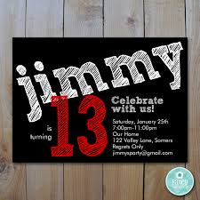 printable 13th birthday invitations images invitation design ideas