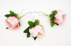 groomsmen boutonnieres pink peony boutonnieres eucalyptus accents groom groomsmen