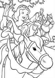 snow white riding horse with prince coloring page color luna