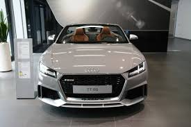2017 audi tt rs roadster shows nardo gray paint at audi forum
