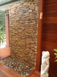 diy wall cascading water features with stone cladding water