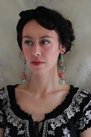 Child Chandelier Wild Child Chandelier Earrings Skull Frida Kahlo Via Etsy