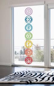 7pcs set yoga chakra symbol wall decals