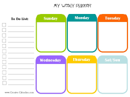 Daily Planner Template Excel Weekly Planner Sheet Thebridgesummit Co