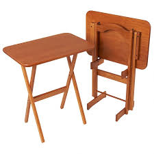 fold away tray table solid ash folding tv tray table set manchester wood elegant tables