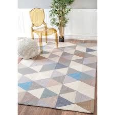 10 X 11 Rug Nuloom Handmade Dimensional Triangles Wool Grey Rug 8 U00276 X 11 U00276
