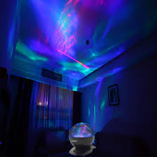 soaiy borealis aurora projector led night light ocean wave lamp