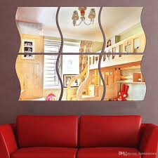 2017 new dressing room mirror stickers home 3d stereo wall