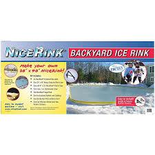 amazon com nicerink 20 u0027 x 40 u0027 backyard ice rink kit hockey
