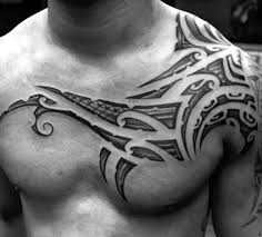 Chest Tattoos - 50 tribal chest tattoos for masculine design ideas
