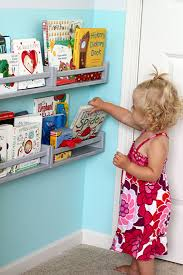 Book Shelves For Kids Room by 4 Ikea Spice Rack Book Shelves Behind The Door I Love That