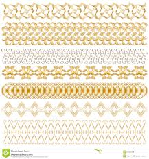 golden ornamental trim collection royalty free stock photos