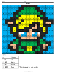 link advanced multiplication coloring squared