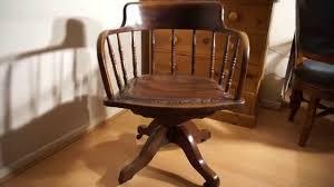 Rattan Desk Chair Antique Oak Captains Desk Chair Swivel U0026 Height U0026 Tilt Adjustable