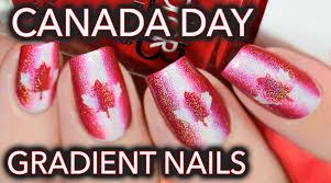 canada day nail art red white u0026 holo youtube