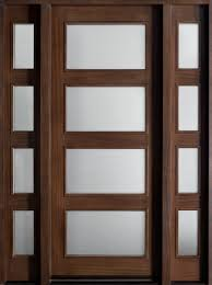 front entry door custom single with 2 sidelites solid wood