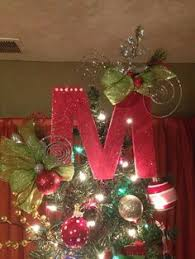 monogram tree topper 12 gold monogram christmas tree topper letter letters from a to
