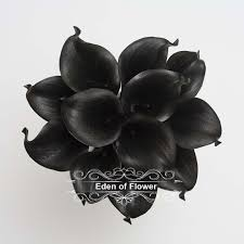 black calla black calla lilies real touch calla bouqet for bridal
