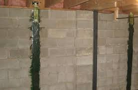 Bowing Basement Wall by Foundation Repairing Contractors Holland Mi