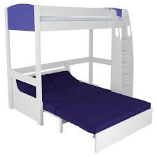 White High Sleeper Bed Frame Stompa Uno S Plus High Sleeper With Sofa Bed Blue Blue