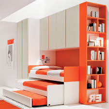 awesome orange and green colors combinations for kids bedroom with