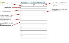 permit to work form seminole work