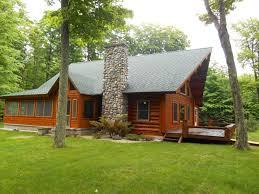 cool log homes garden peninsula log home u p waterfront