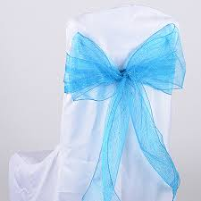turquoise chair sashes glitter organza chair sashes 8 inches fuzzy fabric
