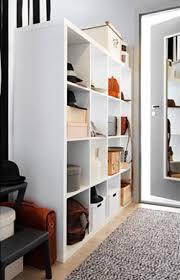 ikea mud room using an ikea cube bookshelf as mudroom cubbies
