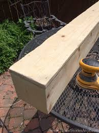 box beam how to build a box beam mantel home stories a to z