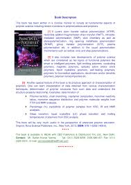 principles of polymers an advanced book