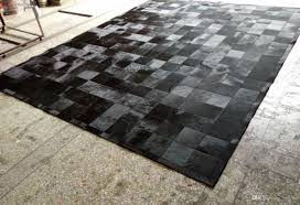 Patchwork Area Rug Black Fur Patchwork Cowhide Area Rug Classic Squares Design No