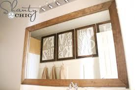 How To Build A Frame Around A Bathroom Mirror How To Build A Frame Around A Bathroom Mirror Photo 3 Design
