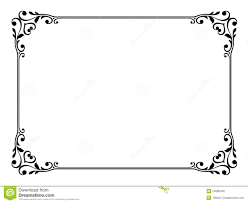 calligraphy ornamental decorative frame stock photography image