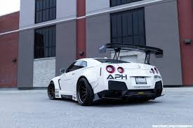 nissan gtr body kit white liberty walk nissan gt r photoshoot gtspirit