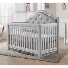 Designer Convertible Cribs Pali Cristallo Forever Crib Vintage White With Grey Vinyl