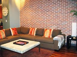 decorations chic interior brick wall decor for living room with