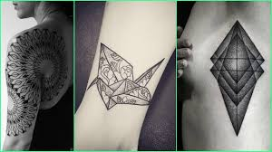 geometric abstract tattoo designs for boys and girls unique