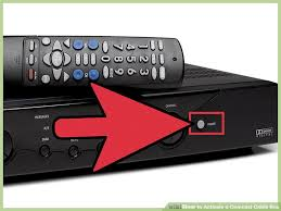 xfinity online light not on how to activate a comcast cable box 14 steps with pictures