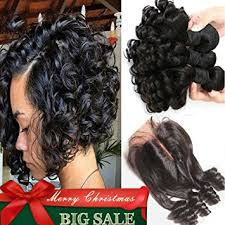 bob hair extensions with closures amazon com aliglossy brazilian virgin hair funmi hair with