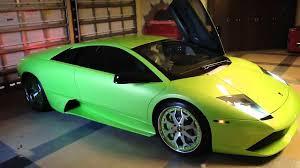 Lamborghini Murcielago Lime Green - lamborghini murcielago revving in closed garage youtube
